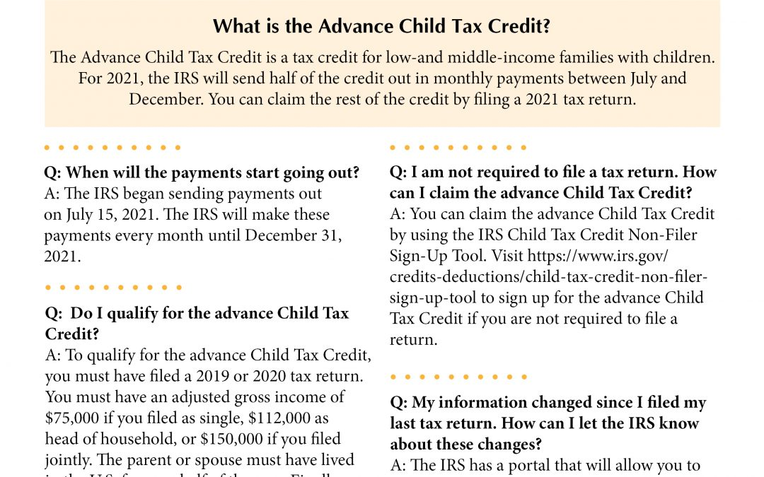 Have Questions About the Advance Child Tax Credit?