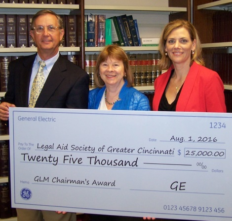 Legal Aid Receives $25,000 Donation from GE Chairman's Award Winner